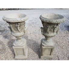 Classic Urns On Plinth