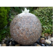 Drilled Flame Granite Sphere