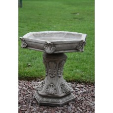 Hexagon Leaf Birdbath