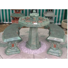 Japanese Painted Patio Set