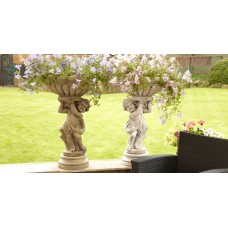 Left & Right Cherub Planter