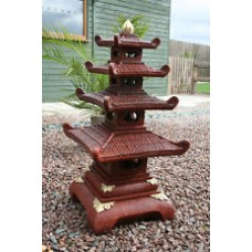 Four Tier Painted Pagoda