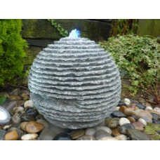 Grey Granite Rustic Sphere
